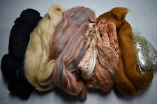 Merino Silk Angelina Fiber Pack Sandlewood Spinning Felt Card 5.25 Ounces