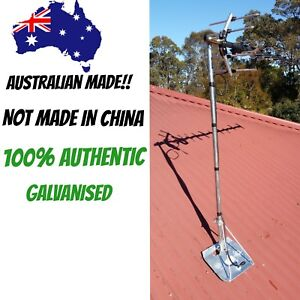 tin roof  mount for tv Antenna  GALVANISED  HEAVY DUTY  WITH POLE  ozzy made!!!