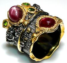 Fine Art Jewelry Star Ruby 925 Sterling Silver Ring Size 6.5