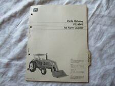 John Deere 58 Farm Loader Parts Catalog Book Manual