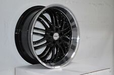 4 GWG Wheels 20 inch Black AMAYA Rims fit 5x108 ET38 VOLVO C70 T5 2006 - 2013