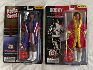"Mego Rocky Balboa & Apollo Creed 8"" Action Figures Movies"