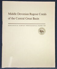 New listing Usgs Middle Devonian Rugose Corals of the Central Great Basin, Vintage 1973