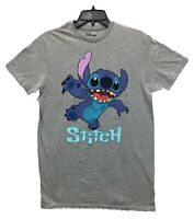 Disney Men's Lilo and Stitch Graphic Licensed T-Shirt Heather Gray New