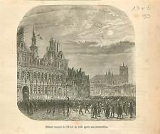 Jacques-René Hébert Hôtel de Ville de Paris GRAVURE ANTIQUE OLD PRINT 1873