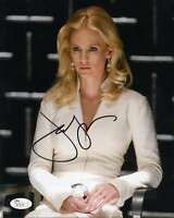 JANUARY JONES JSA COA HAND SIGNED 8X10 PHOTO AUTHENTICATED AUTOGRAPH