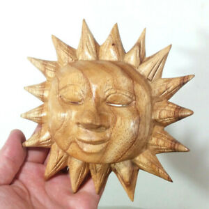Wood Sun, Hand Carved, Wall Decor - Made in Bali, Indonesia, Life, Influence NEW