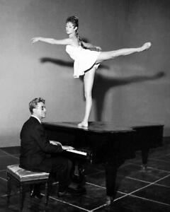 Vintage Photo ... Bridgette Bardot Dancing on Piano ... Photo Print 8x10