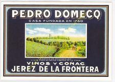 Reproducción antigua publicidad VINOS Y COGNAC PEDRO DEMECQ JEREZ DE LA FRONTERA
