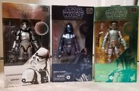 Star Wars Black Series 3 Carbonized Figures: Boba Fett Darth Vader Stormtrooper