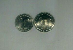Algeria 1 and 2 Centime 1964 unc