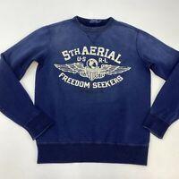 Ralph Lauren 5Th Aerial US-RL Freedom Seekers Sweater Mens Small Long Sleeve