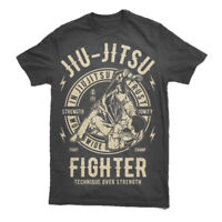 Mma Jiu Jitsu T Shirt Bjj Brazilian Ufc Tap Snap Nap Mens Top Martial Arts S-3XL