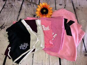 Lot Of 5 Victoria's Secret pink casual/ sleep Shorts & Sweatshirt(M)-  Sz. Small