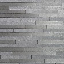 Arthouse Foil Slate Wallpaper Silver