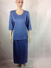 2 Piece Knitted Summer Skirt Suit. Size 16