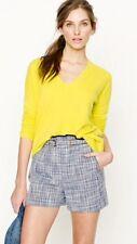 J Crew Blue White Basket Weave Tweed Shorts Cotton Rayon Sz 6 Euc!!