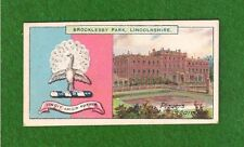 BROCKLESBY PARK  EARL of YARBOROUGH Coat of Arms Lincolnshire 1909 print