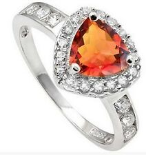 1.46 CARAT TW AZOTIC GEMSTONE & CUBIC ZIRCONIA Sterling Silver RIng (USA Size 7)