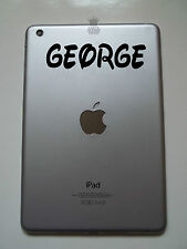 iPad Mini Personalised Custom Name Sticker Vinyl Decal Curly Waltz 2 Kids tablet