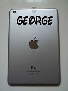 iPad Mini Personalised Custom Name Sticker Vinyl Decal Curly Waltz 2 Kids tablet