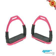 Ynr FLESSIBILI Sicurezza Staffe per equitazione Bendy FERRI S/acciaio rosa