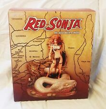 "RED SONJA  Statue - She-Devil with a Sword & Snake - Ltd. Ed.- 7.5"" Tall"