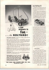 1955 PAPER AD Doepke Model Toys New Model Toy Rolybird Pedal Car RARE & 1st year