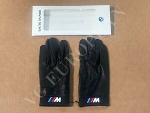 BMW Genuine M Driving Gloves Black Leather Mens Large NEW