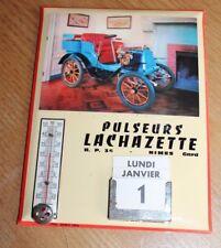 glacoide  publicitaire thermomètre  calendrier  pulseurs lachazette nimes gard