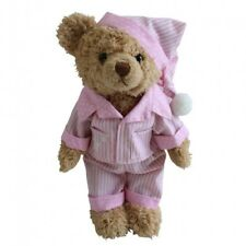 Personalised Night Time Teddy Bear In Pyjamas In Pink Or Blue Great Gift