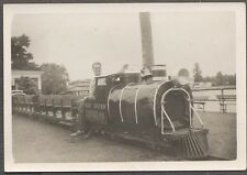 Vintage Photo Man on Bay Shore Express Scale Railroad Train Ride 773386