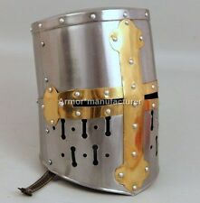 Medieval Knight Templar Crusader Helmet-Blackened-Collectible-Costume Armour