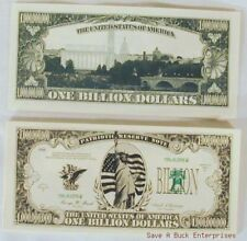 1000 BILLION - DOLLAR NOVELTY BILLS - wholesale lot set (1,000 / one thousand)