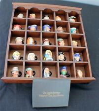 VTG FRANKLIN Porcelain Peter Jackson ENGLISH HERITAGE 25 Miniature Toby Jugs COA