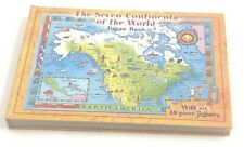 A0115 The Seven Continents of the World Jigsaw Book w/ 7 48 Piece Puzzles