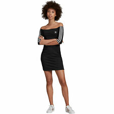 adidas Originals Off Shoulder Dress Sportliches Kleid Schulterfrei Sportkleid