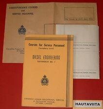 Canadian Legion Education Book Diesel Engineering 1941 Nanaimo BC Soldier Named