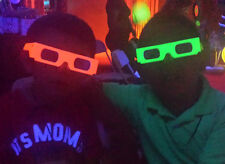 NEON Diffraction GLASSES- Glow under Black Light  6PRS - PARTY RAVE Glases