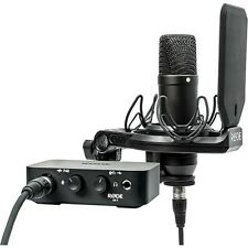 Rode AI-1 Complete Studio Kit Home Recording with NT1 Mic USB Interface Cables