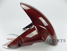 2010-2015 Streetfighter Front Fender Mud Cowl Tire Fairing 100% Carbon Fiber Red