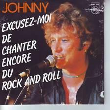 CD 2 titres JOHNNY HALLYDAY ***EXCUSEZ - MOI DE CHANTER ENCORE DU ROCK..   n°171