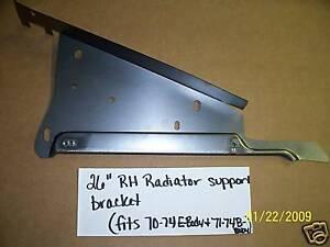 "MOPAR 26"" RADIATOR SUPPORT BRACKET RH E BODY & 71-74 B"