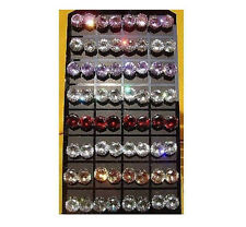 New Lots 36Pairs 10mm Colors Round Cubic Zirconia Stud Earrings