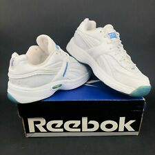Vintage Reebok Pro 5600 Low Mens 7 White Mid Tops Basketball Shoes Vintage DS