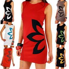 WOMENS SLEEVELESS DRESS LADIES TUNIC TOP SIZE 8 10 12 14 16 18 UK