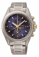 Seiko Titanium Strap Wristwatches with Chronograph