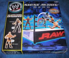 WWE STUNT ACTION RING UNDERTAKER KURT ANGLE SUPERSTARS RAW SMACK DOWN EXCLUSIVE