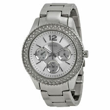 Fossil ES3588 Women's Stella Silver Dial Day/Date Stainless Steel  Watch
