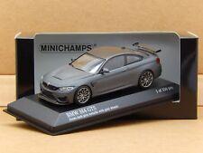 1/43 BMW M4 GTS congelato Grigio/Grigio Ruote Minichamps DieCast Model 410 025225 NUOVO